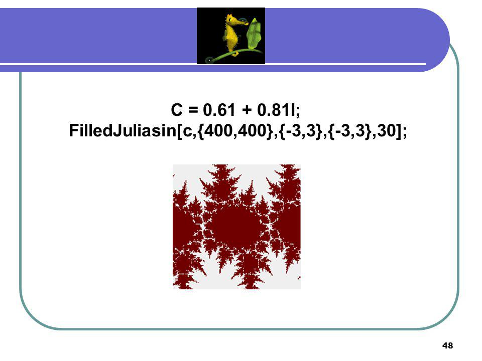 FilledJuliasin[c,{400,400},{-3,3},{-3,3},30];